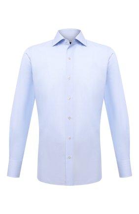 Мужская хлопковая сорочка TOM FORD голубого цвета, арт. 2FT622/94S3AX | Фото 1