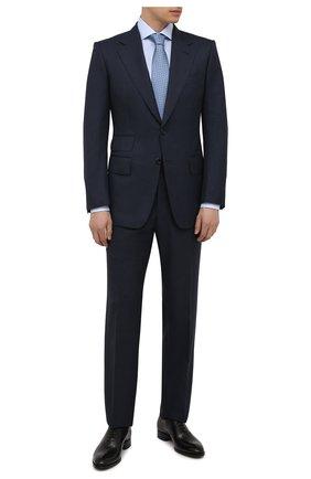 Мужской шерстяной костюм TOM FORD темно-синего цвета, арт. 211R44/21AA43 | Фото 1