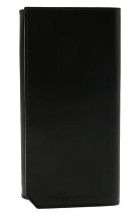 Мужской кожаное портмоне SANTONI черного цвета, арт. UFPPA2121F0-GRT0N01 | Фото 1