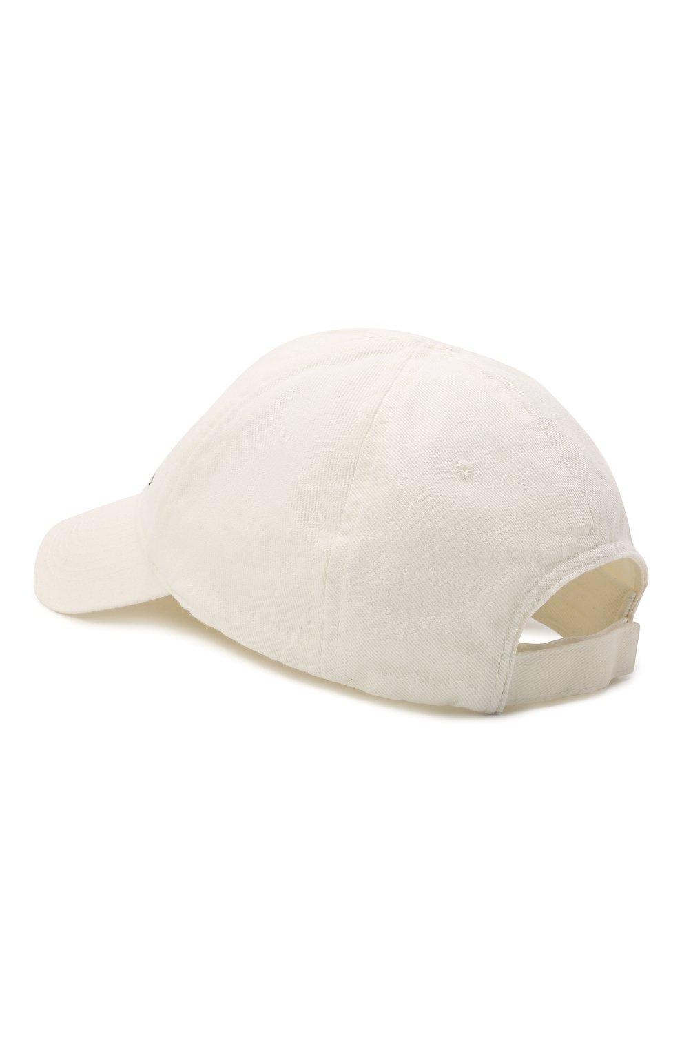 Мужской хлопковая бейсболка BALENCIAGA белого цвета, арт. 656501/410B2   Фото 2