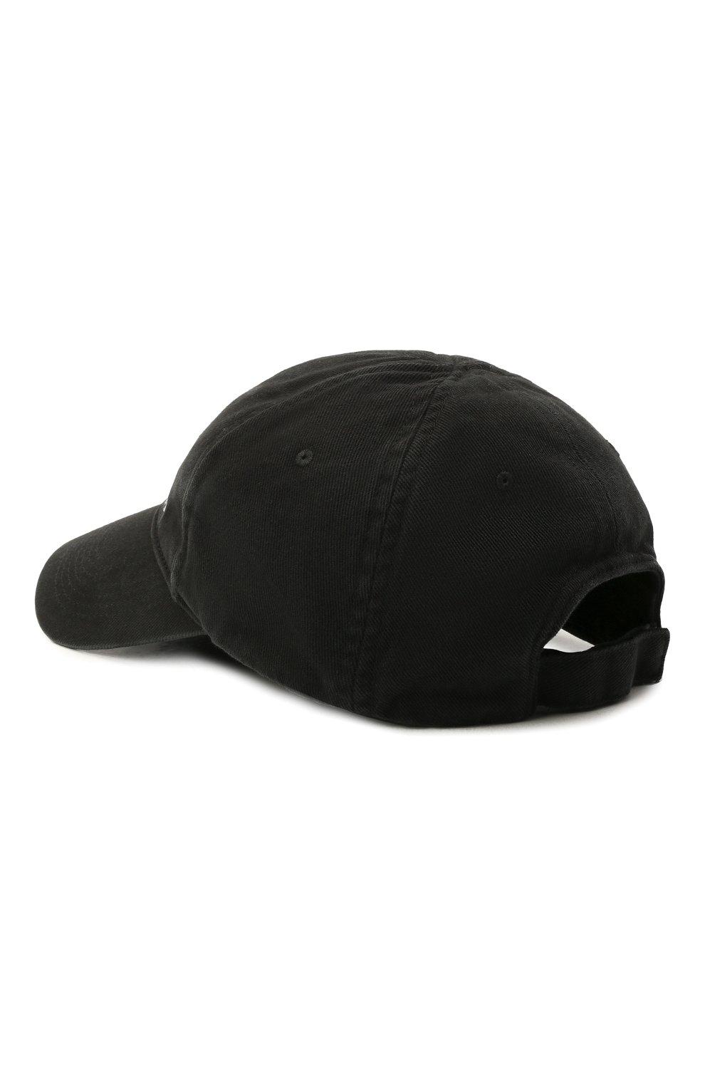 Мужской хлопковая бейсболка BALENCIAGA черного цвета, арт. 656501/410B2 | Фото 2