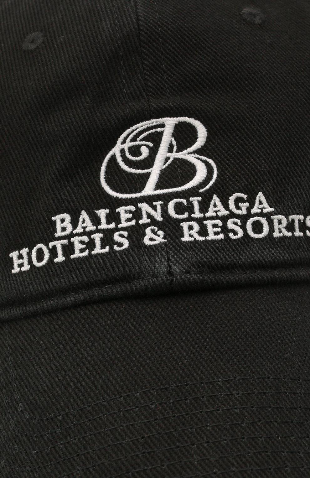 Мужской хлопковая бейсболка BALENCIAGA черного цвета, арт. 656501/410B2 | Фото 3