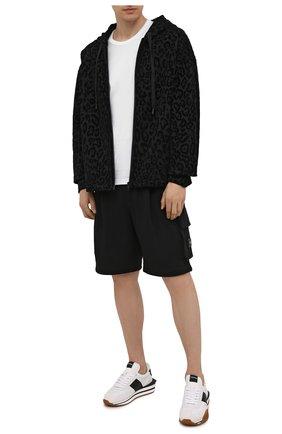 Мужские хлопковые шорты DOLCE & GABBANA черного цвета, арт. GYSJAT/FU7DU | Фото 2