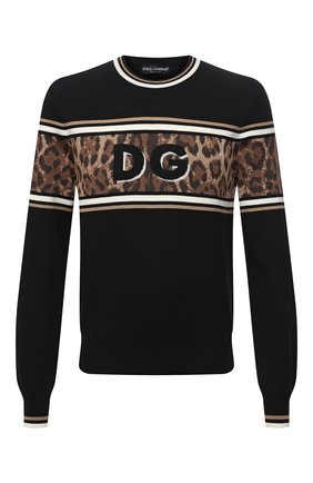 Мужской хлопковый свитер DOLCE & GABBANA черного цвета, арт. GXG36T/JBVB0 | Фото 1