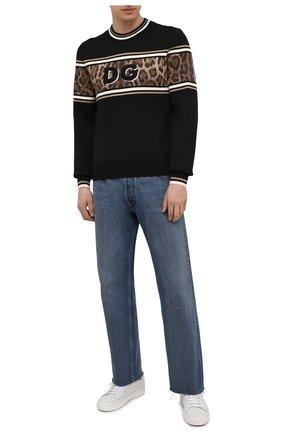 Мужской хлопковый свитер DOLCE & GABBANA черного цвета, арт. GXG36T/JBVB0 | Фото 2