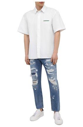 Мужские джинсы DOLCE & GABBANA голубого цвета, арт. GWSVAD/G8EF2 | Фото 2