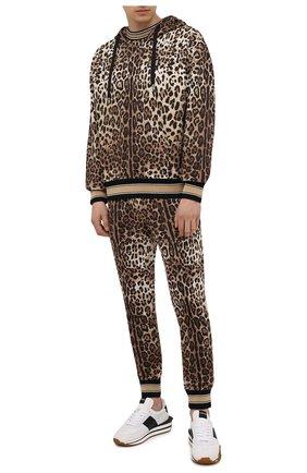 Мужские хлопковые джоггеры DOLCE & GABBANA леопардового цвета, арт. GWJNAT/HS7EF | Фото 2