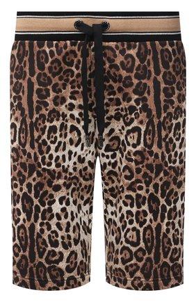 Мужские хлопковые шорты DOLCE & GABBANA леопардового цвета, арт. GWJ0AT/HS7EF | Фото 1