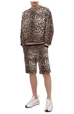 Мужские хлопковые шорты DOLCE & GABBANA леопардового цвета, арт. GWJ0AT/HS7EF | Фото 2