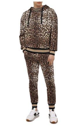 Мужской хлопковое худи DOLCE & GABBANA леопардового цвета, арт. G9UY7T/HS7EF | Фото 2