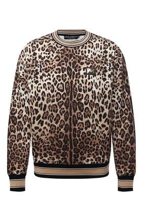 Мужской хлопковый свитшот DOLCE & GABBANA леопардового цвета, арт. G9UR8T/HS7EF | Фото 1