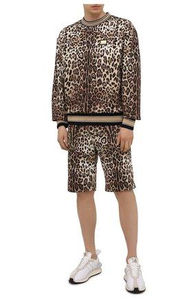 Мужской хлопковый свитшот DOLCE & GABBANA леопардового цвета, арт. G9UR8T/HS7EF | Фото 2