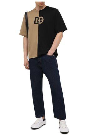 Мужская хлопковая футболка DOLCE & GABBANA бежевого цвета, арт. G8ND7Z/FU7EQ | Фото 2