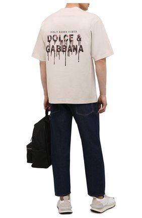 Мужская футболка DOLCE & GABBANA кремвого цвета, арт. G8MZ0Z/FUGK4 | Фото 2