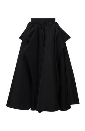 Женская юбка ALEXANDER MCQUEEN черного цвета, арт. 653815/QEACM   Фото 1