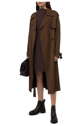 Женские кожаные ботинки mallory SEE BY CHLOÉ темно-коричневого цвета, арт. SB33082A/14002 | Фото 2
