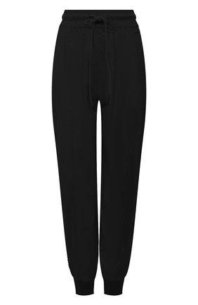 Женские джоггеры REDVALENTINO черного цвета, арт. WR3RBE50/1FP | Фото 1 (Материал внешний: Синтетический материал; Длина (брюки, джинсы): Стандартные, Укороченные; Стили: Спорт-шик; Женское Кросс-КТ: Джоггеры - брюки; Силуэт Ж (брюки и джинсы): Джоггеры)
