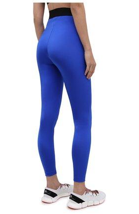 Женские леггинсы DOLCE & GABBANA синего цвета, арт. FTB5TT/FUGLG | Фото 4 (Женское Кросс-КТ: Леггинсы-одежда, Леггинсы-спорт; Длина (брюки, джинсы): Стандартные; Кросс-КТ: Спорт; Материал внешний: Синтетический материал; Стили: Спорт-шик)