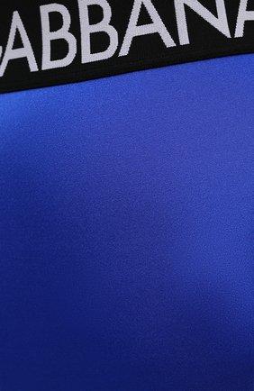 Женские леггинсы DOLCE & GABBANA синего цвета, арт. FTB5TT/FUGLG | Фото 5 (Женское Кросс-КТ: Леггинсы-одежда, Леггинсы-спорт; Длина (брюки, джинсы): Стандартные; Кросс-КТ: Спорт; Материал внешний: Синтетический материал; Стили: Спорт-шик)