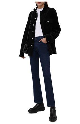 Женские кожаные ботинки BRUNELLO CUCINELLI черного цвета, арт. MZBSG2072 | Фото 2 (Материал внутренний: Натуральная кожа; Каблук высота: Средний; Подошва: Платформа; Женское Кросс-КТ: Челси-ботинки)