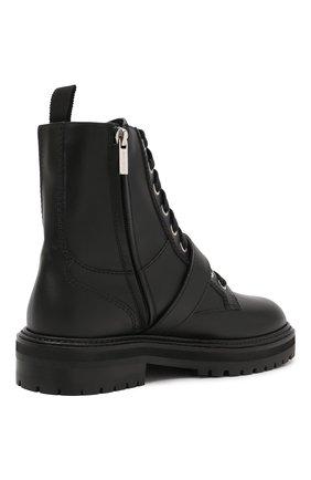 Женские кожаные ботинки cora JIMMY CHOO черного цвета, арт. C0RA FLAT/CRYSTAL/ZXX | Фото 4