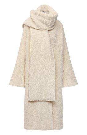 Женское шерстяное пальто ERIKA CAVALLINI кремвого цвета, арт. W1/P/P1WN01 | Фото 1