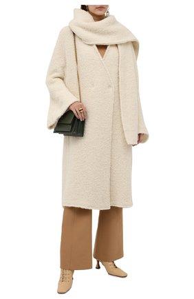 Женское шерстяное пальто ERIKA CAVALLINI кремвого цвета, арт. W1/P/P1WN01 | Фото 2
