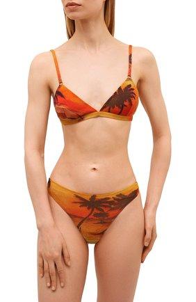 Женский бра с мягкой чашкой SAINT LAURENT оранжевого цвета, арт. 646112/Y36AW | Фото 2