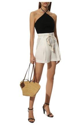 Женские кожаные босоножки maillon SAINT LAURENT черного цвета, арт. 657452/2WN00 | Фото 2 (Материал внутренний: Натуральная кожа; Каблук тип: Устойчивый; Подошва: Плоская; Каблук высота: Высокий)