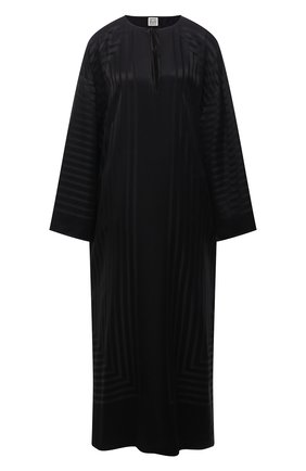 Женская шелковая туника TOTÊME черного цвета, арт. 213-642-724 | Фото 1