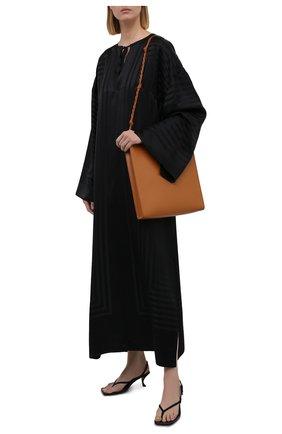 Женская шелковая туника TOTÊME черного цвета, арт. 213-642-724 | Фото 2