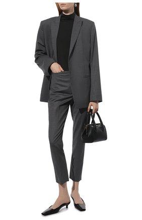 Женские шерстяные брюки TOTÊME серого цвета, арт. 213-218-702 | Фото 2