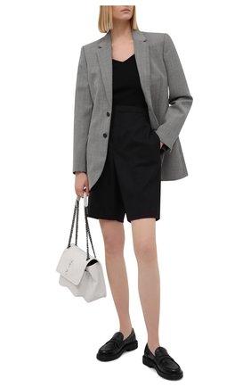 Женские кожаные пенни-лоферы LORENA ANTONIAZZI черного цвета, арт. A2182SC006/448   Фото 2
