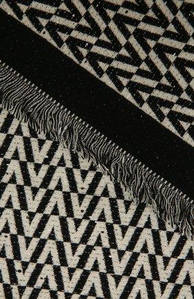 Женский шерстяной шарф VALENTINO черно-белого цвета, арт. WW2ER027/CIC   Фото 2