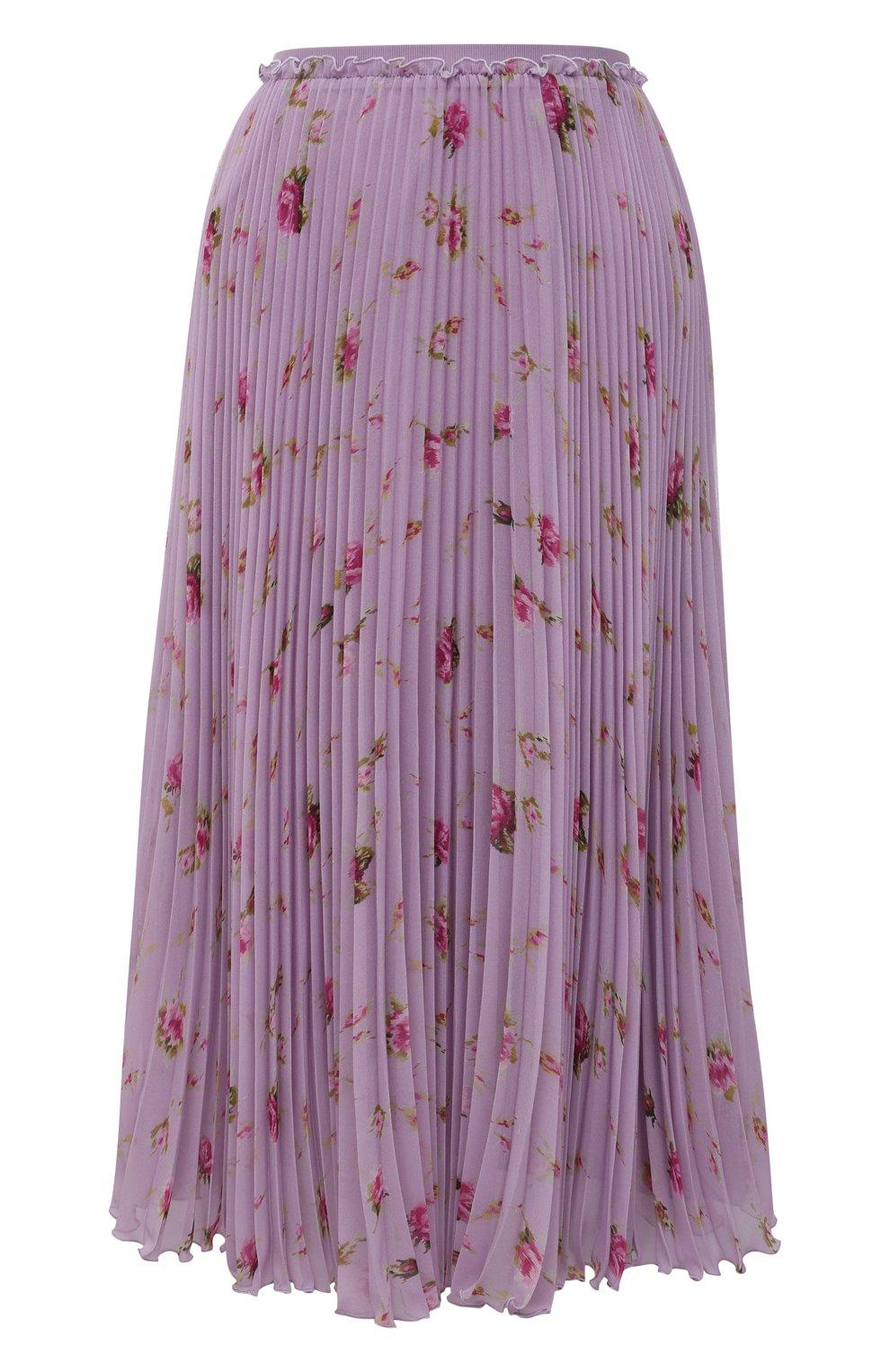 Женская плиссированная юбка REDVALENTINO сиреневого цвета, арт. WR3RAC20/602   Фото 1