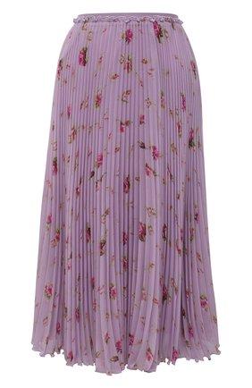 Женская плиссированная юбка REDVALENTINO сиреневого цвета, арт. WR3RAC20/602 | Фото 1 (Материал внешний: Синтетический материал; Женское Кросс-КТ: Юбка-одежда, юбка-плиссе; Материал подклада: Синтетический материал; Стили: Романтичный; Длина Ж (юбки, платья, шорты): Миди)