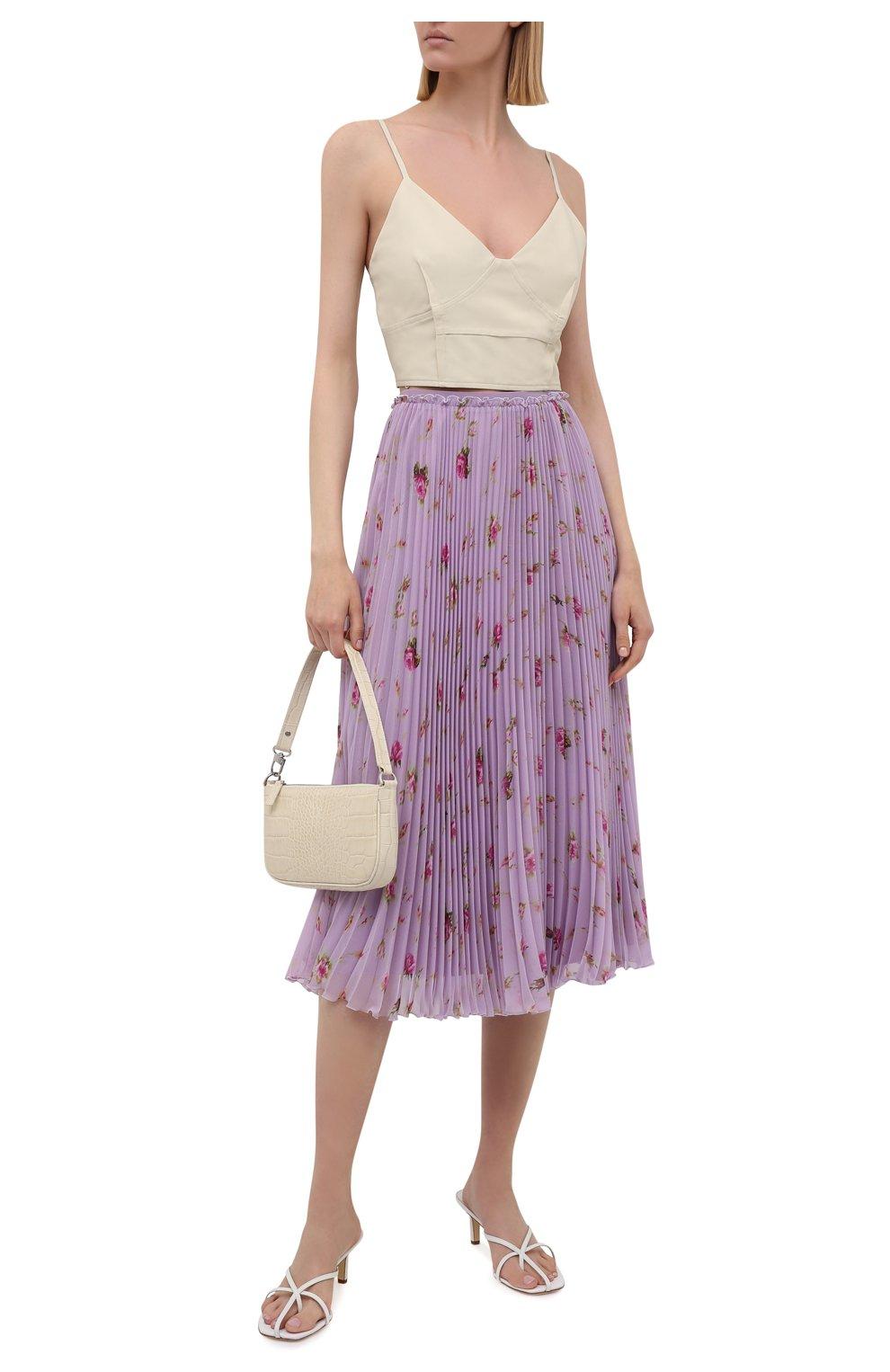 Женская плиссированная юбка REDVALENTINO сиреневого цвета, арт. WR3RAC20/602   Фото 2