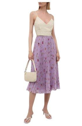 Женская плиссированная юбка REDVALENTINO сиреневого цвета, арт. WR3RAC20/602 | Фото 2 (Материал внешний: Синтетический материал; Женское Кросс-КТ: Юбка-одежда, юбка-плиссе; Материал подклада: Синтетический материал; Стили: Романтичный; Длина Ж (юбки, платья, шорты): Миди)