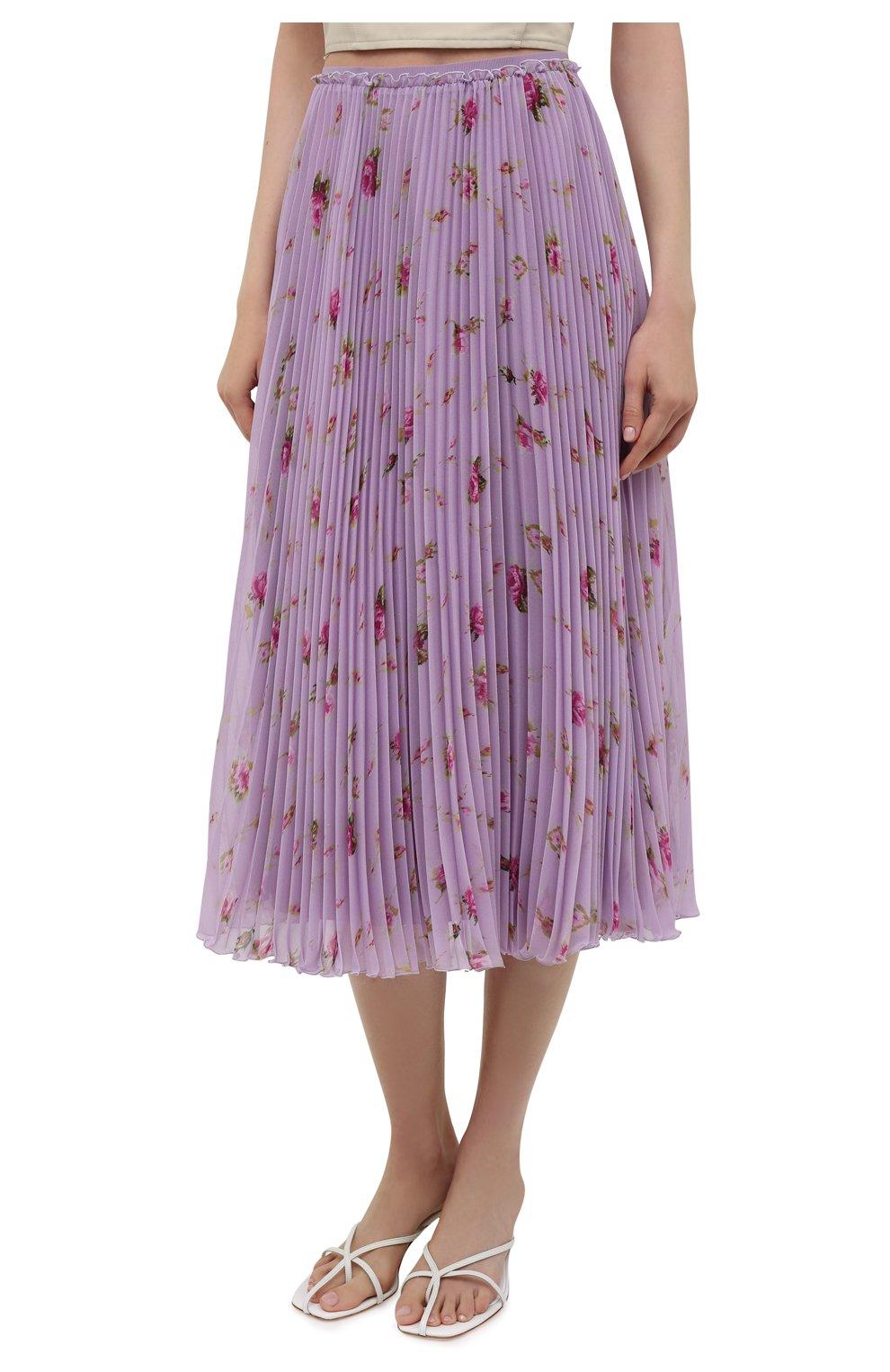 Женская плиссированная юбка REDVALENTINO сиреневого цвета, арт. WR3RAC20/602   Фото 3
