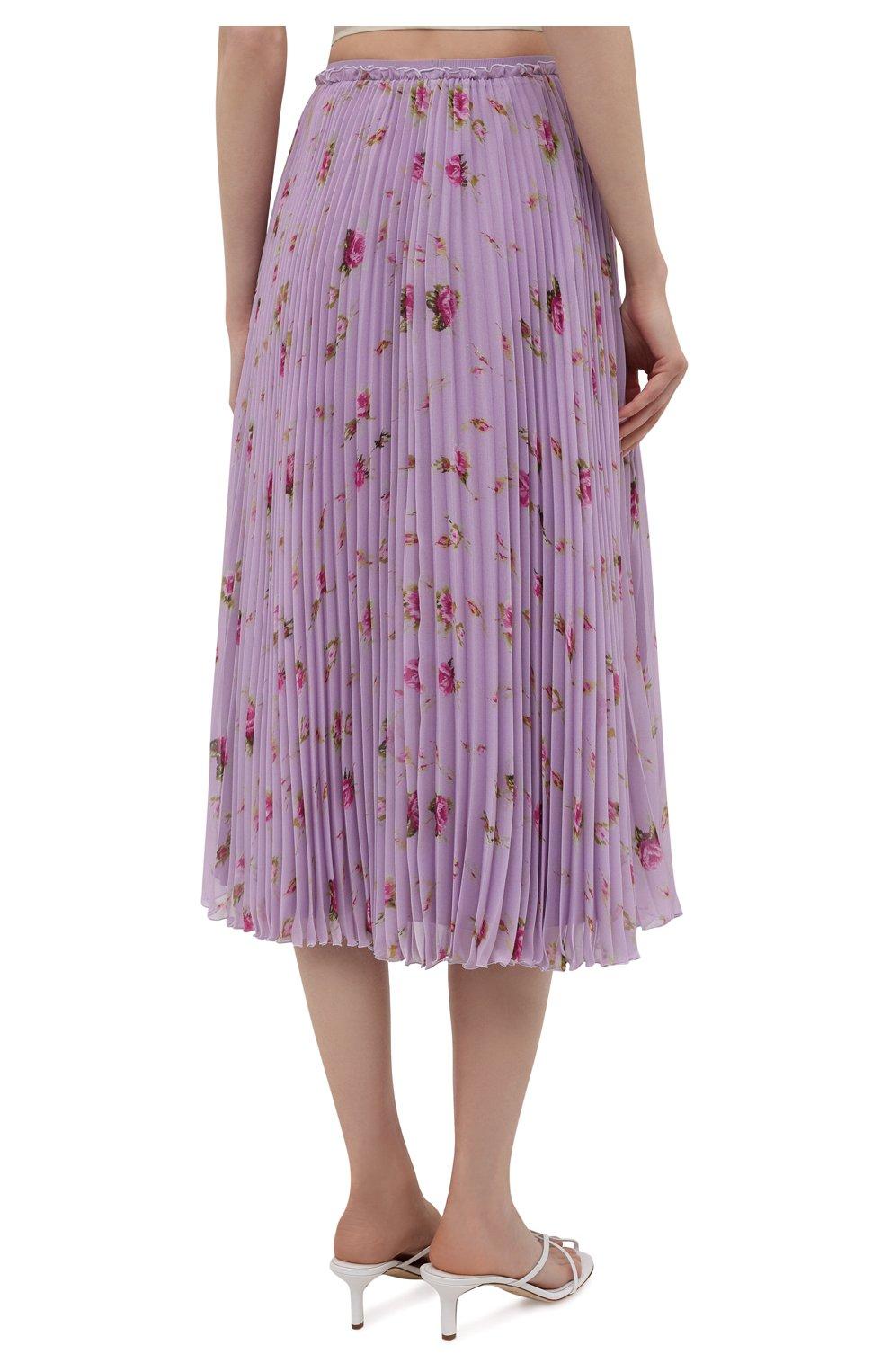 Женская плиссированная юбка REDVALENTINO сиреневого цвета, арт. WR3RAC20/602   Фото 4