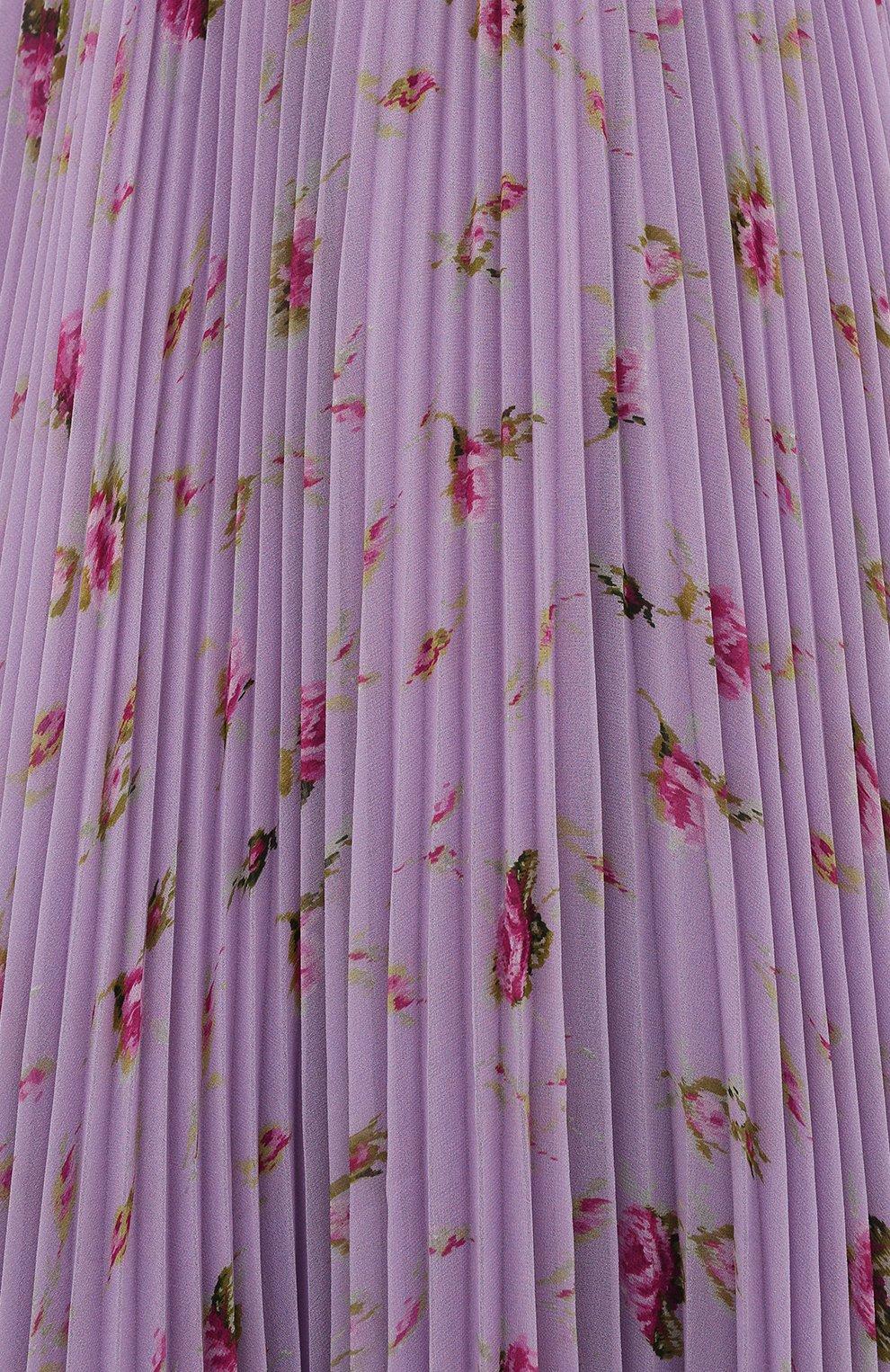 Женская плиссированная юбка REDVALENTINO сиреневого цвета, арт. WR3RAC20/602   Фото 5