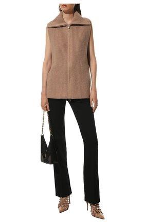 Женские кожаные ботильоны rockstud alcove VALENTINO бежевого цвета, арт. WW2S0CQ0/CUS | Фото 2 (Подошва: Плоская; Материал внутренний: Натуральная кожа; Каблук высота: Высокий; Каблук тип: Шпилька)
