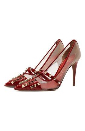 Женские кожаные туфли rockstud alcove VALENTINO красного цвета, арт. WW2S0CV9/AMW | Фото 1