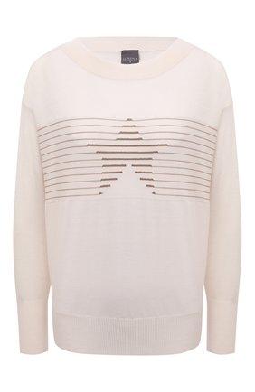 Женский шерстяной пуловер LORENA ANTONIAZZI кремвого цвета, арт. A21105BM003/2471 | Фото 1