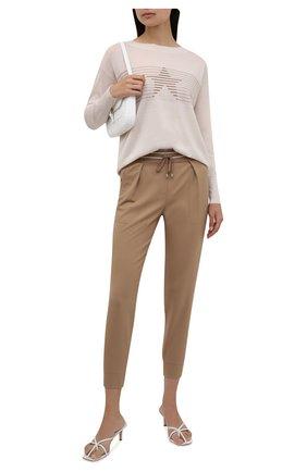 Женский шерстяной пуловер LORENA ANTONIAZZI кремвого цвета, арт. A21105BM003/2471 | Фото 2