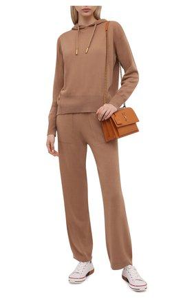 Женские кашемировые брюки LORENA ANTONIAZZI бежевого цвета, арт. A21108PM002/1175 | Фото 2