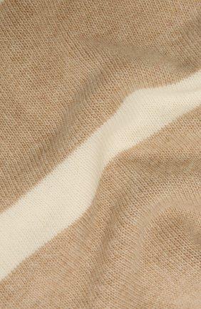 Женский шарф из шерсти и кашемира LORENA ANTONIAZZI светло-бежевого цвета, арт. A21115SP010/1906   Фото 2