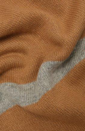 Женский шарф из шерсти и кашемира LORENA ANTONIAZZI бежевого цвета, арт. A21115SP010/1906   Фото 2