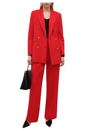 Женские шерстяные брюки LORENA ANTONIAZZI красного цвета, арт. A2125PA30A/3607 | Фото 2