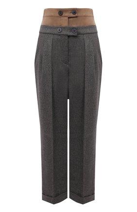 Женские шерстяные брюки LORENA ANTONIAZZI серого цвета, арт. A2131PA16A/3273 | Фото 1